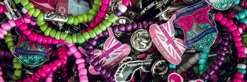 Walk the Walk Fundraising Bra Pins & Bracelets