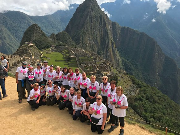 Peru 2017 Team with medals at Machu Picchu