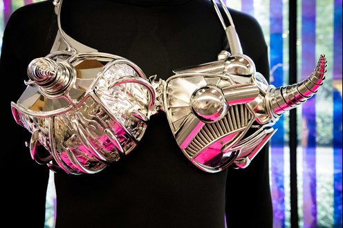 Martian bra from our bust up exhibition at The Lightbox Woking