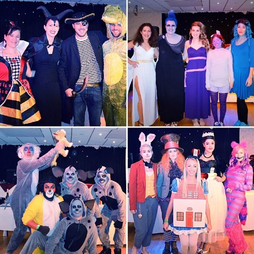 Disney fundraiser fancy dress collage