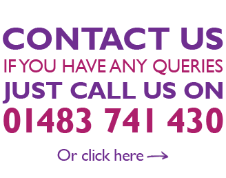 Contact Us, call 01483 741430 or click image