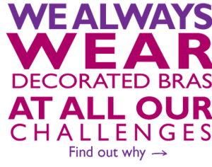 Why we wear decorated bras at our MoonWalks and Challenges
